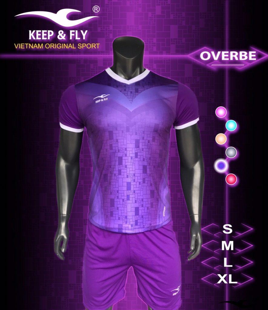 Áo bóng đá không logo 2018-17 màu tím
