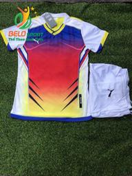 Áo bóng đá không logo 2018-08 màu trắng pha đỏ
