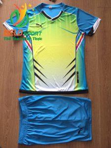 Áo bóng đá không logo 2018-13 màu xanh ngọc