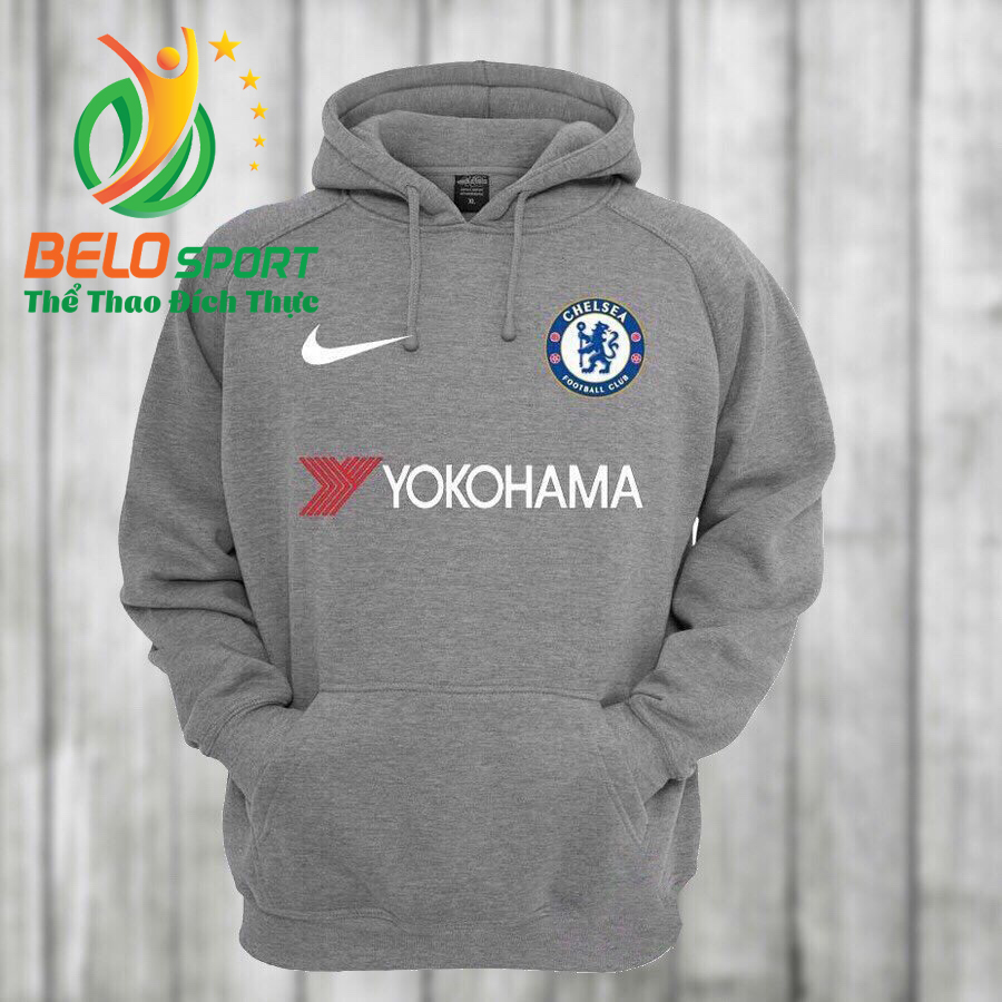 Áo khoác bóng đá chesea 2018 màu xám