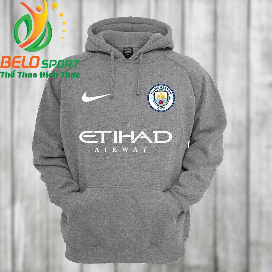 Áo khoác bóng đá Manchester 2018 màu xám