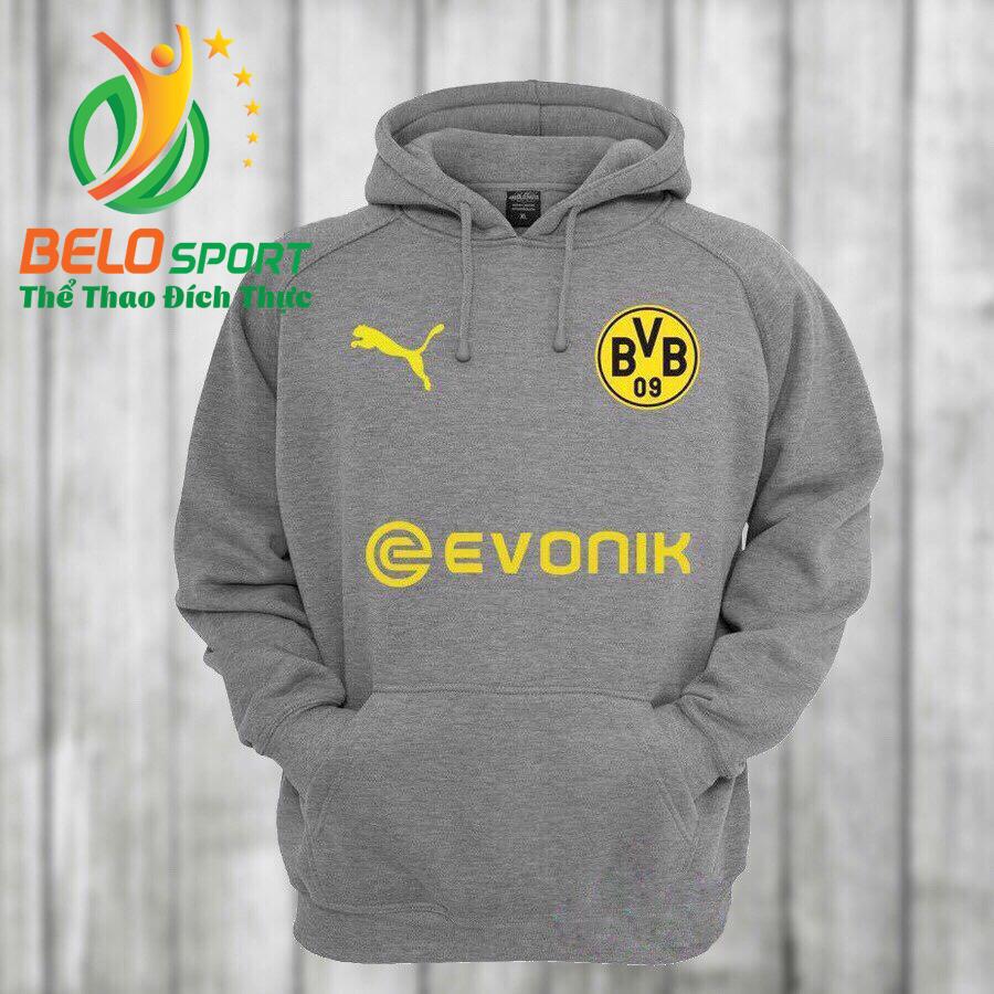 Áo khoác bóng đá Dortmund 2018 màu xám