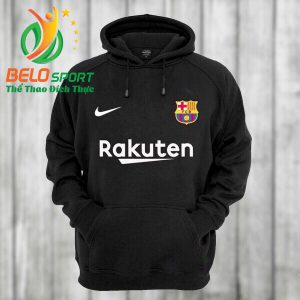 Áo khoác bóng đá Barxa 2018 màu đen