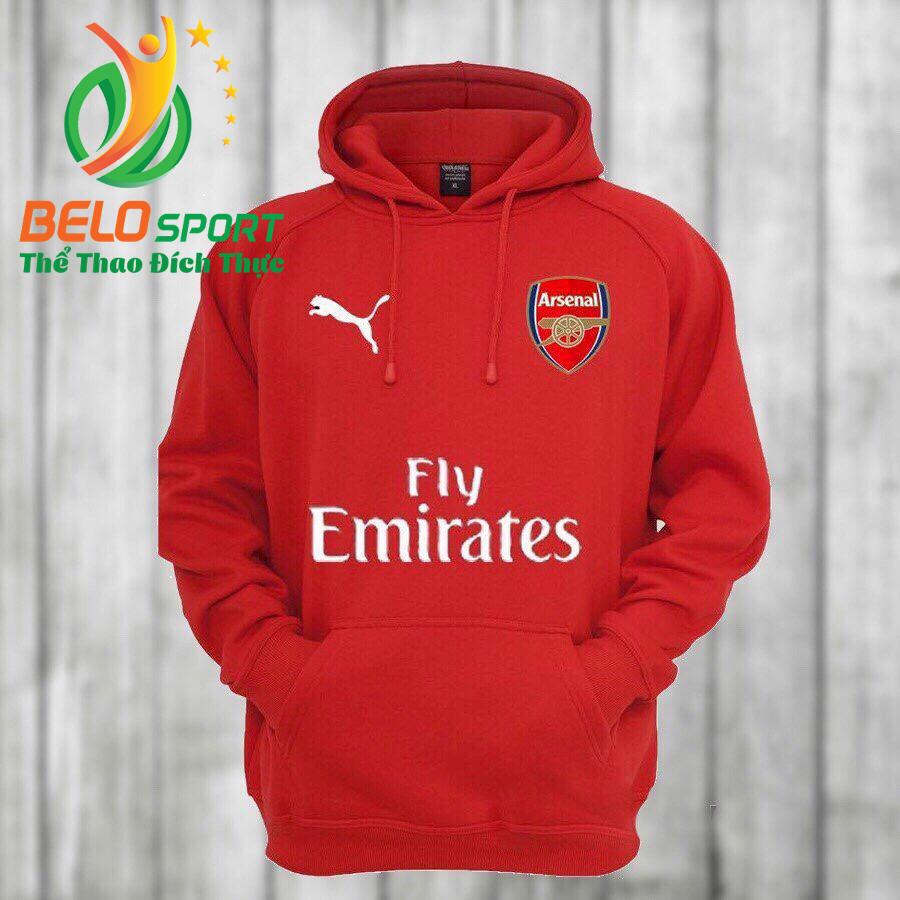 Áo khoác bóng đá Arsenal 18 màu đỏ