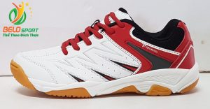 Giày cầu lông động lực PROMAX 17009 màu trắng pha đỏ