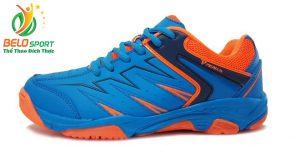 Giày cầu lông động lực PROMAX 17009 chính hãng màu xanh nhạt pha cam
