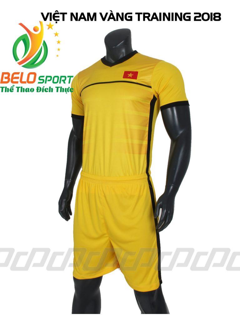 Áo bóng đá Đội tuyển Việt Nam training 2018 màu vàng