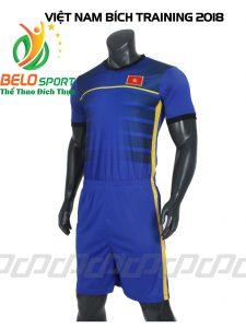 Áo bóng đá Đội tuyển Việt Nam training 2018 màu xanh