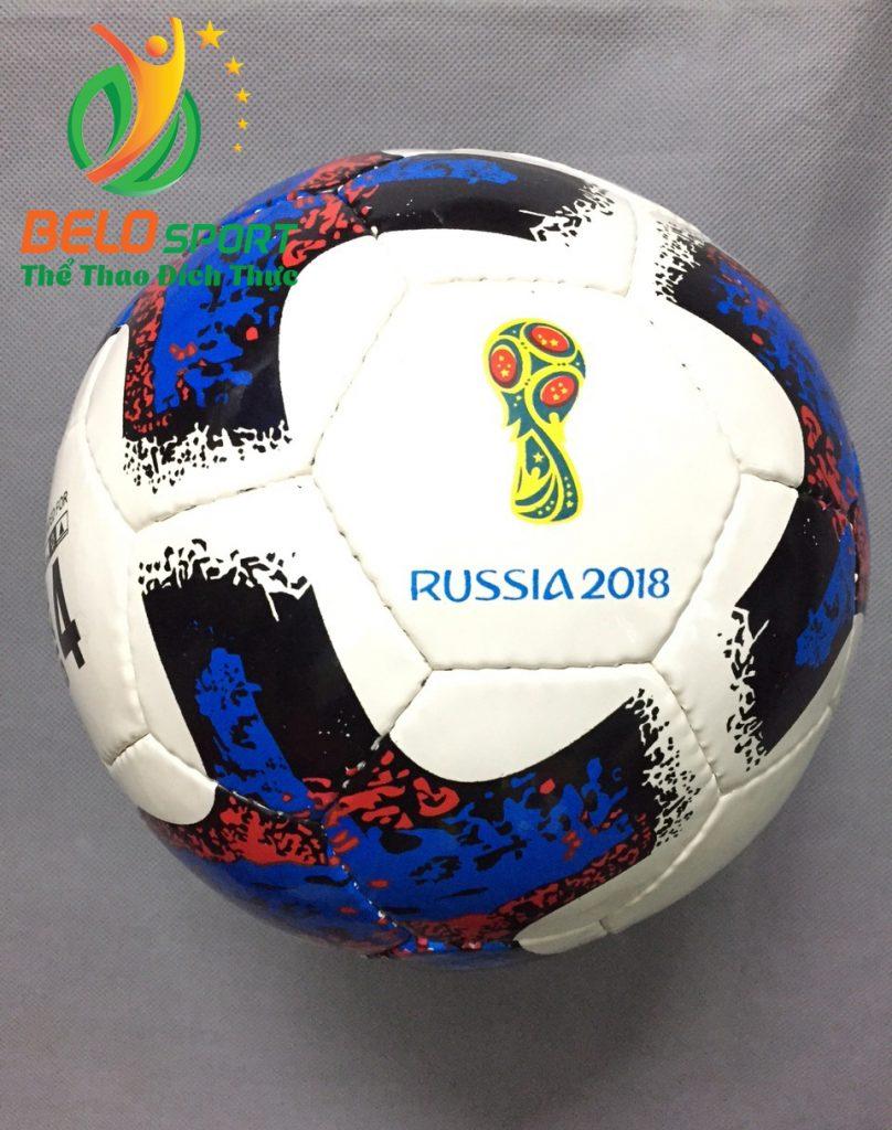 Qủa bóng đá trẻ em số 4 worldcup 2018 màu trắng xanh