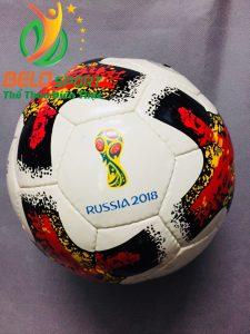 Qủa bóng đá trẻ em số 4 worldcup 2018 màu trắng đỏ