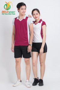 Áo bóng chuyền nam nữ donex 2018 chính hãng mã Belo-123-2018 đỏ trắng