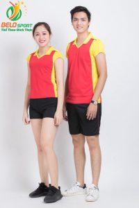 Áo bóng chuyền nam nữ donex 2018 chính hãng mã Belo-125-2018 đỏ vàng
