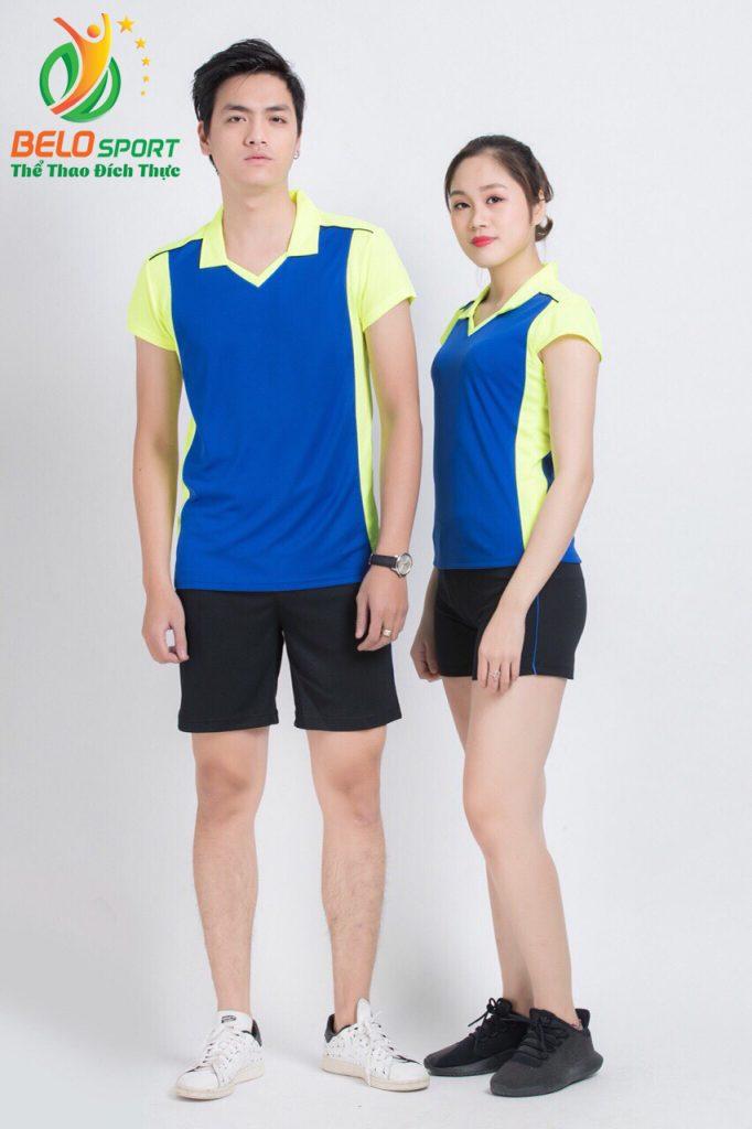 Áo bóng chuyền nam nữ donex 2018 chính hãng mã Belo-127-2018 xanh biển
