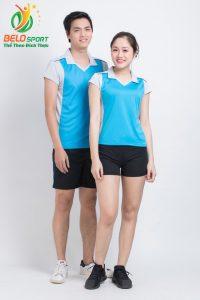 Áo bóng chuyền nam nữ donex 2018 chính hãng mã Belo-128-2018 xanh ngọc