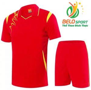 Áo bóng chuyền nam nữ  Belo-2018-068 màu đỏ tươi