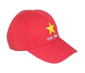 Mũ lưỡi trai cờ đỏ sao vàng cổ vũ cực dày đẹp chuyên sỉ ( 20,25,35,40,45,50,70)