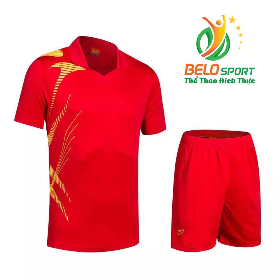 Áo bóng chuyền nam nữ Belo 2018-123 màu đỏ chính hãng