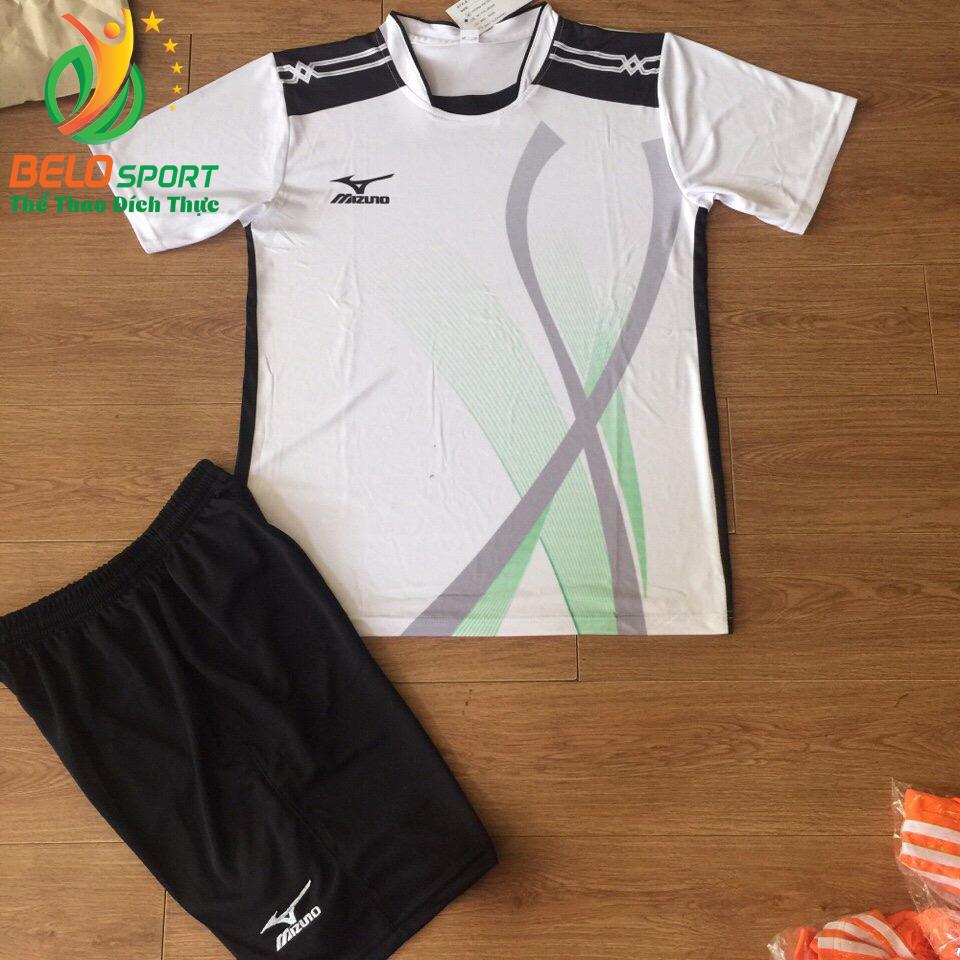 Áo bóng chuyền Mizuno 2018-099 màu trắng nam nữ