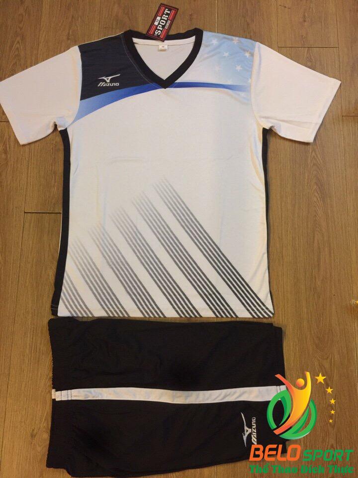 Áo bóng chuyền Mizuno 2018-088 màu trắng nam nữ