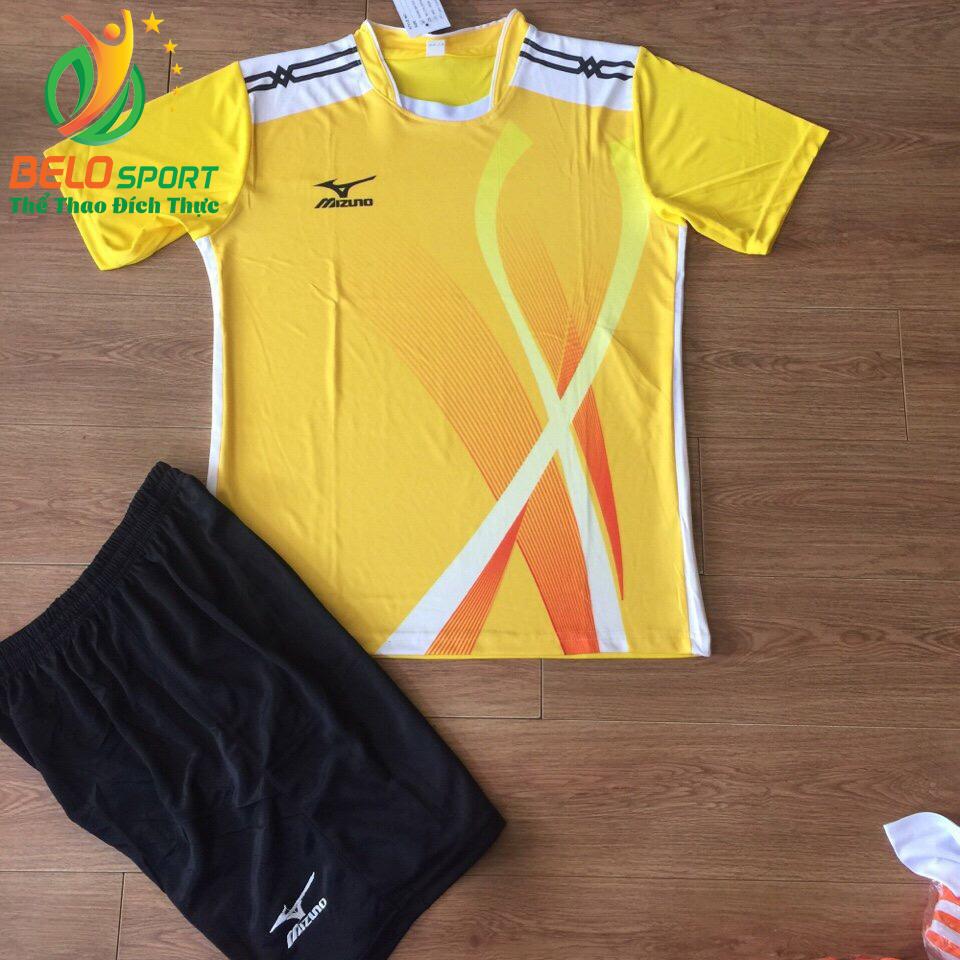 Áo bóng chuyền Mizuno 2018-099 màu vàng nam nữ