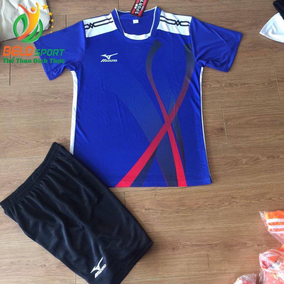 Áo bóng chuyền Mizuno 2018-099 màu xanh biển nam nữ