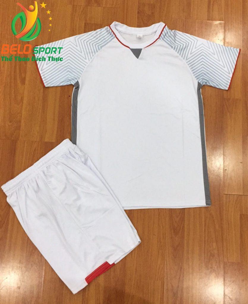Áo bóng đá không logo Việt Nam màu trắng