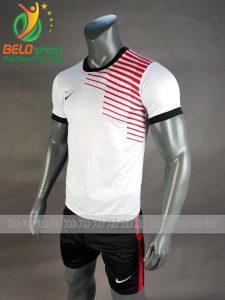 Áo bóng đá không logo Shark 2018 mã S-001 màu trắng đỏ