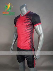 Áo bóng đá không logo Belo D-012 NINJA 2018 đen đỏ