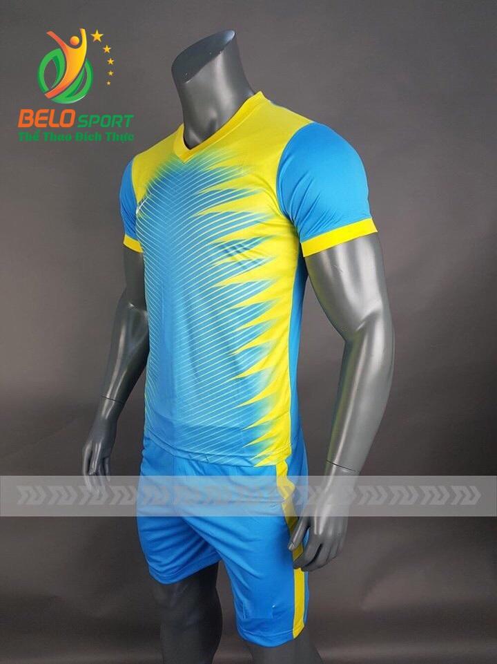 Áo bóng đá không logo Belo D-013 NINJA 2018 xanh vàng