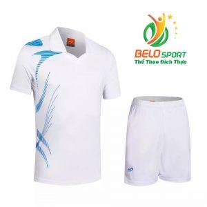 Áo bóng chuyền nam nữ Belo 2018-123 màu trắng chính hãng