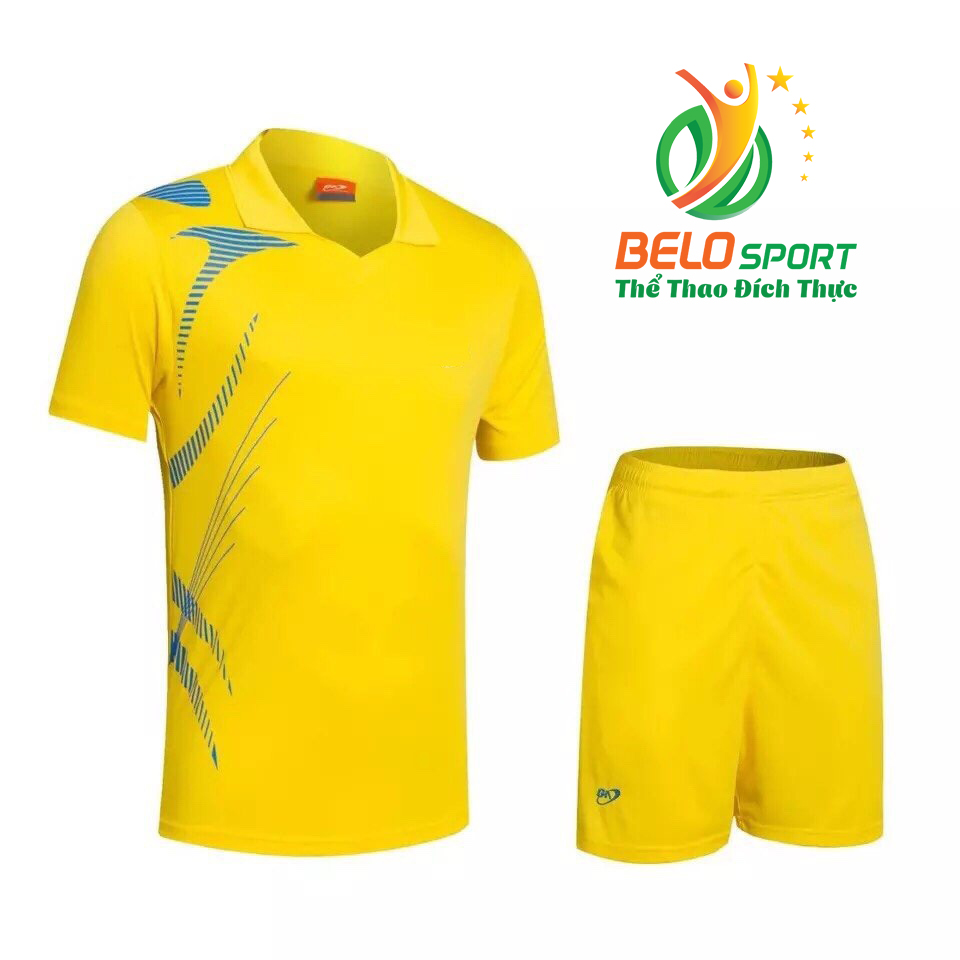 Áo bóng chuyền nam nữ Belo 2018-123 màu vàng chính hãng