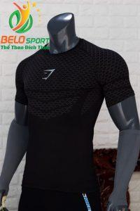 Áo tập gym body fit SHARK độc quyền Belo mã A-088 màu đen