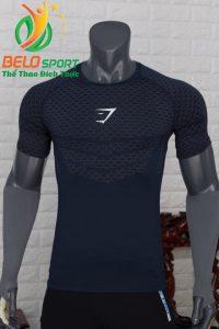 Áo tập gym body fit SHARK độc quyền Belo mã A-088 màu tím than