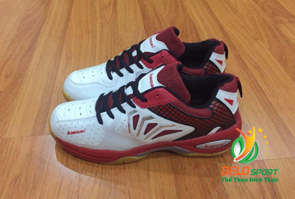 Giày bóng chuyền cầu lông Kawasaki mã K066 màu trắng đỏ giá rẻ
