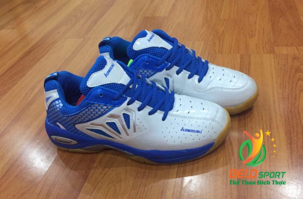 Giày bóng chuyền cầu lông Kawasaki mã K066 màu trắng xanh giá rẻ