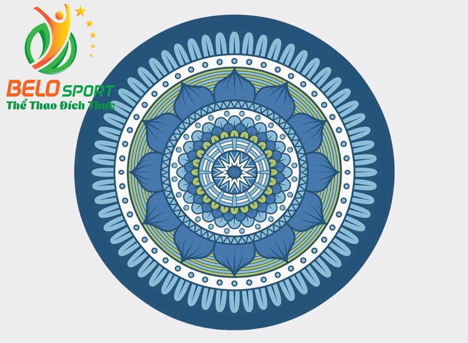 Thảm tập yoga tròn 140cm mặt trên nỉ mặt dưới cao su cao cấp TRT03