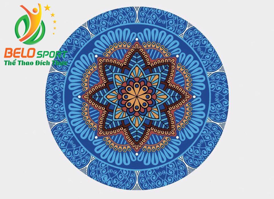 Thảm tập yoga tròn 140cm mặt trên nỉ mặt dưới cao su cao cấp TRT01