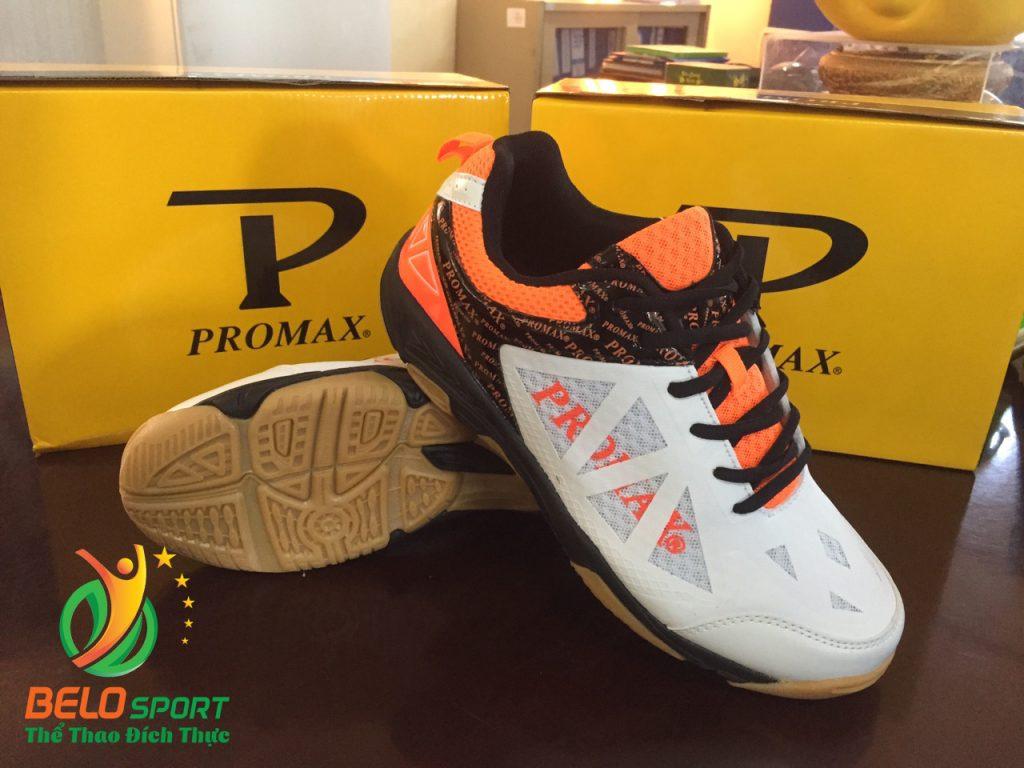 Giày bóng chuyền PROMAX động lực 17088 màu cam pha trắng