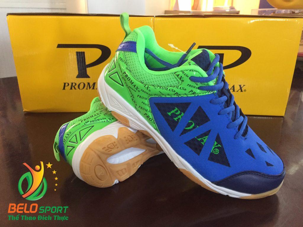 Giày bóng chuyền PROMAX động lực 17088 màu chuối pha xanh đậm