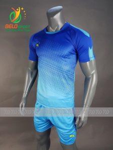 Áo bóng đá không logo Belo D-016 màu xanh