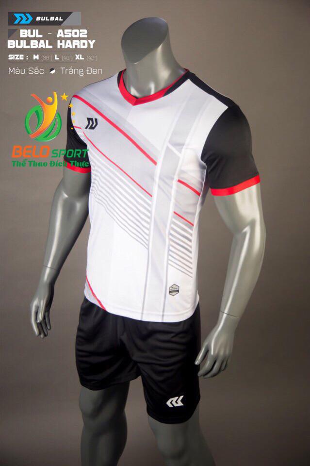 Áo bóng đá không logo Belo D-017 màu trắng