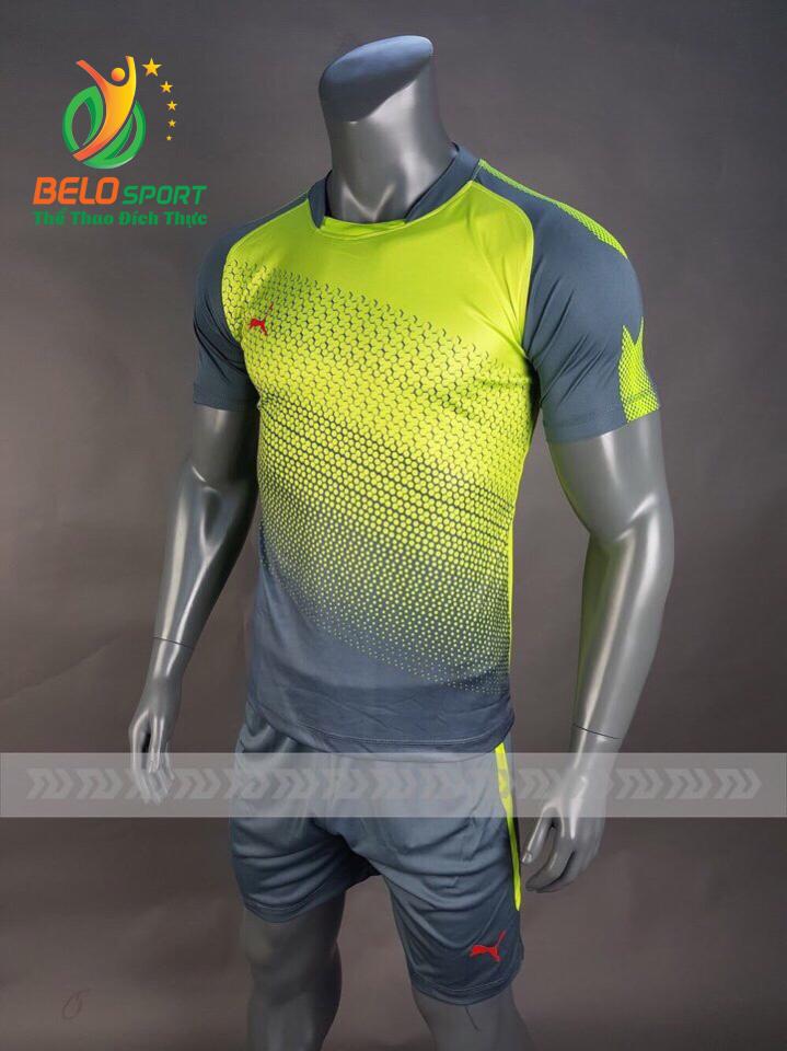 Áo bóng đá không logo Belo D-018 màu vàng