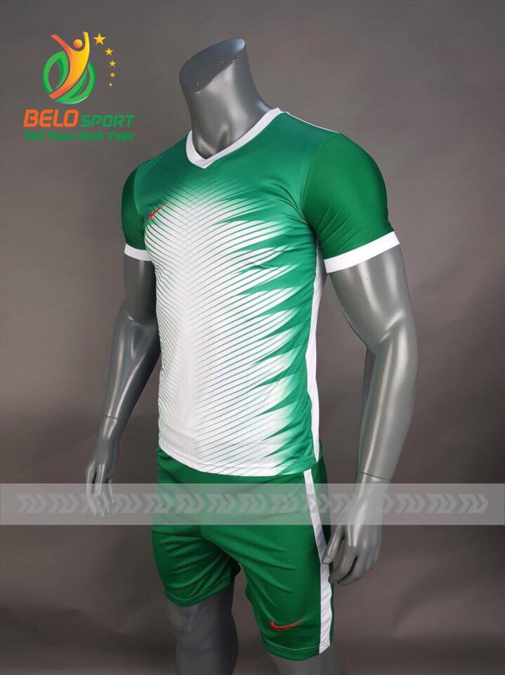 Áo bóng đá không logo Belo D-020 màu xanh lá