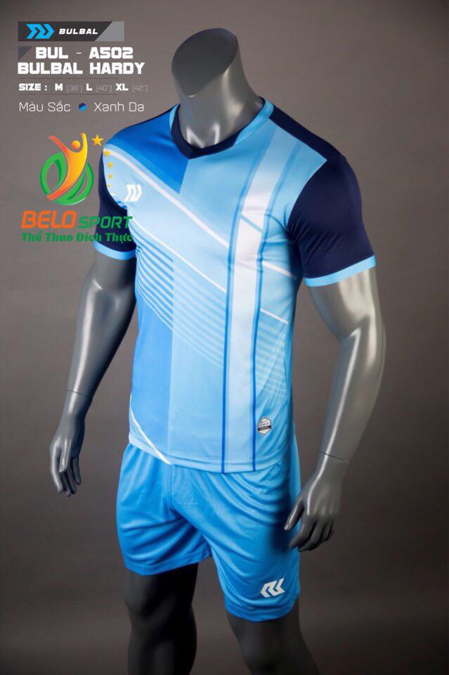Áo bóng đá không logo Belo D-021 màu xanh ngọc