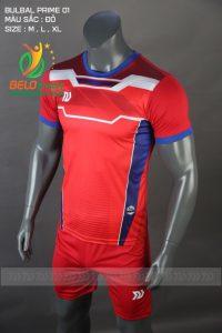 Áo bóng đá không logo Belo D-022 màu đỏ