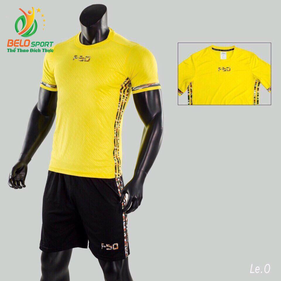 Áo bóng đá không logo Belo D-024 màu vàng