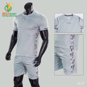 Áo bóng đá không logo Belo D-025 màu xám