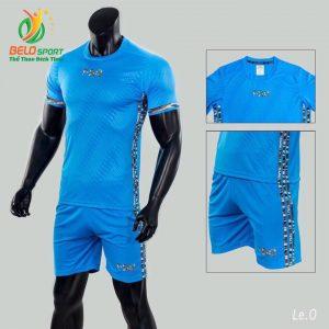 Áo bóng đá không logo Belo D-026 màu xanh ngọc