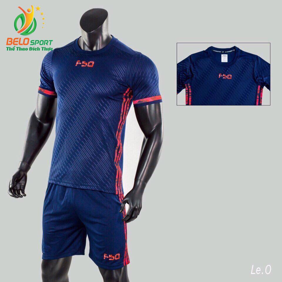 Áo bóng đá không logo Belo D-027 màu xanh dương