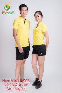 Áo cầu lông nam nữ Donex pro mã 67-06-08 chính hãng màu vàng